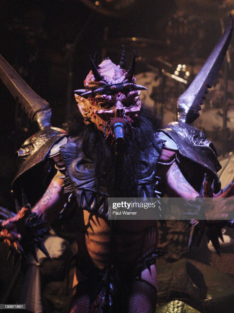 GWAR lead singer Dave Brockie also known as Oderus Urungus performs with the band at Harpos on October 29 2011 in Detroit United States