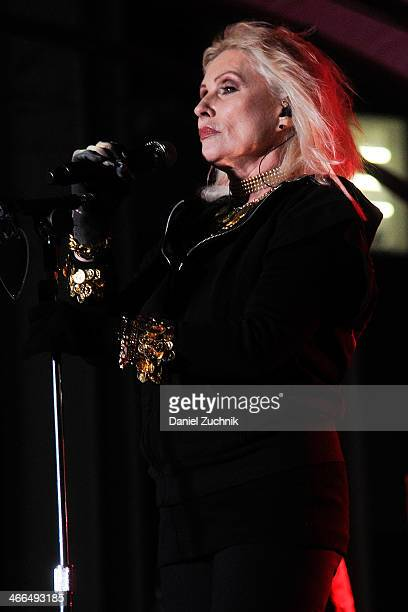 Lead singer Debbie Harry of Blondie performs at Super Bowl Boulevard on February 1 2014 in New York City