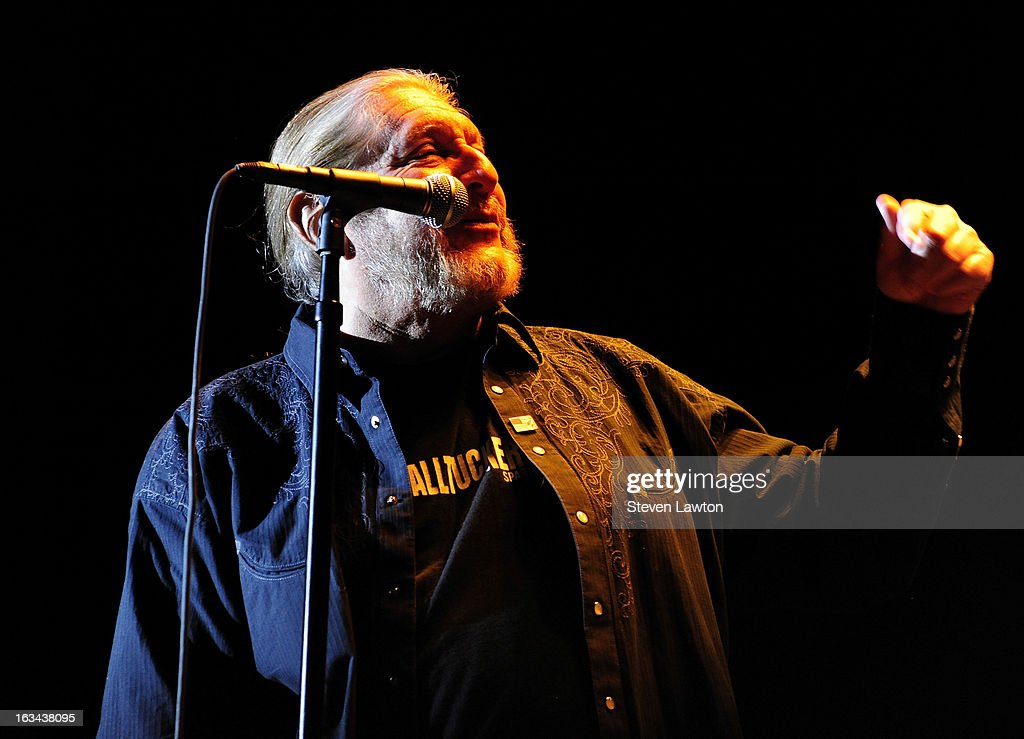 Lead singer Doug Gray of The Marshall Tucker Band performs at The Orleans Showroom at The Orleans Hotel & Casino on March 9, 2013 in Las Vegas, Nevada.