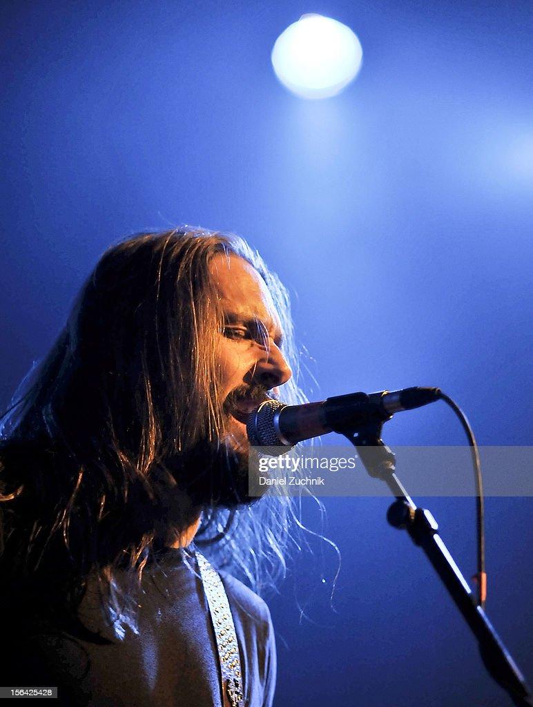 Lead singer Eddie Veliz of Kyng performs at Best Buy Theater on November 14, 2012 in New York City.
