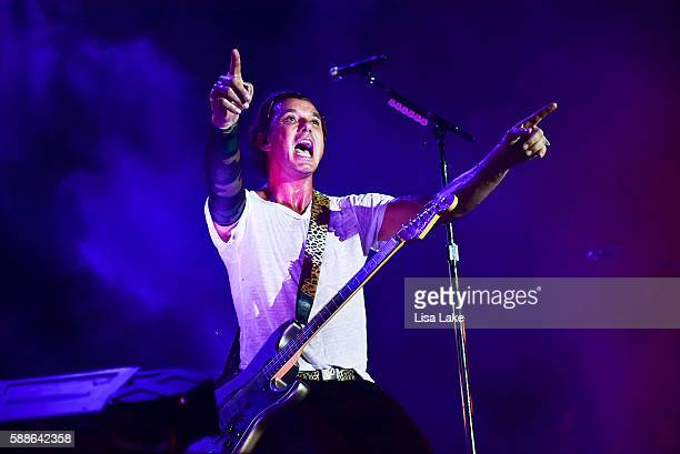 Lead Singer Gavin Rossdale of the music group Bush performs during Musikfest at Sands Steel Stage at PNC Plaza on August 11 2016 in Bethlehem...