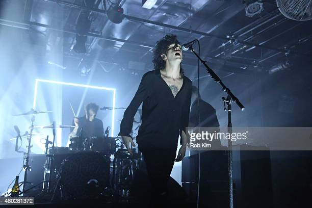 Lead singer Matt Healy and band The 1975 perform at Tumblr's Year In Review 2014 at Brooklyn Night Bazaar on December 10 2014 in New York City