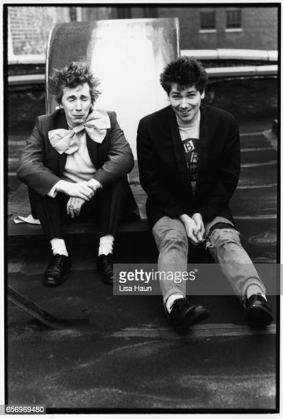 Lead singer of PIL John Lydon aka Johnny Rotten and drummer Martin Atkins pose for a portrait for the program book for their upcoming tour of Japan...