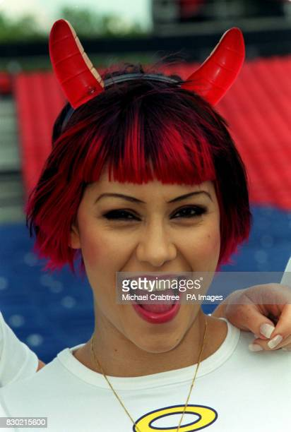 Lead singer of pop group Republica Saffron at London's Hyde Park to promote Wicked Women a concert due to take place in Hyde Park on Saturday July 25...