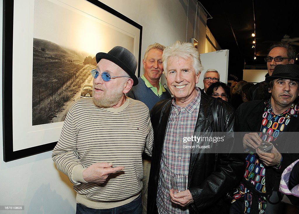 Lead singer of the Turtles Howard Kaylan and musician and photographer <a gi-track='captionPersonalityLinkClicked' href=/galleries/search?phrase=Graham+Nash&family=editorial&specificpeople=208239 ng-click='$event.stopPropagation()'>Graham Nash</a> attend the <a gi-track='captionPersonalityLinkClicked' href=/galleries/search?phrase=Graham+Nash&family=editorial&specificpeople=208239 ng-click='$event.stopPropagation()'>Graham Nash</a> Photo Exhibit Opening at the Morrison Hotel Gallery on April 25, 2013 in New York City.