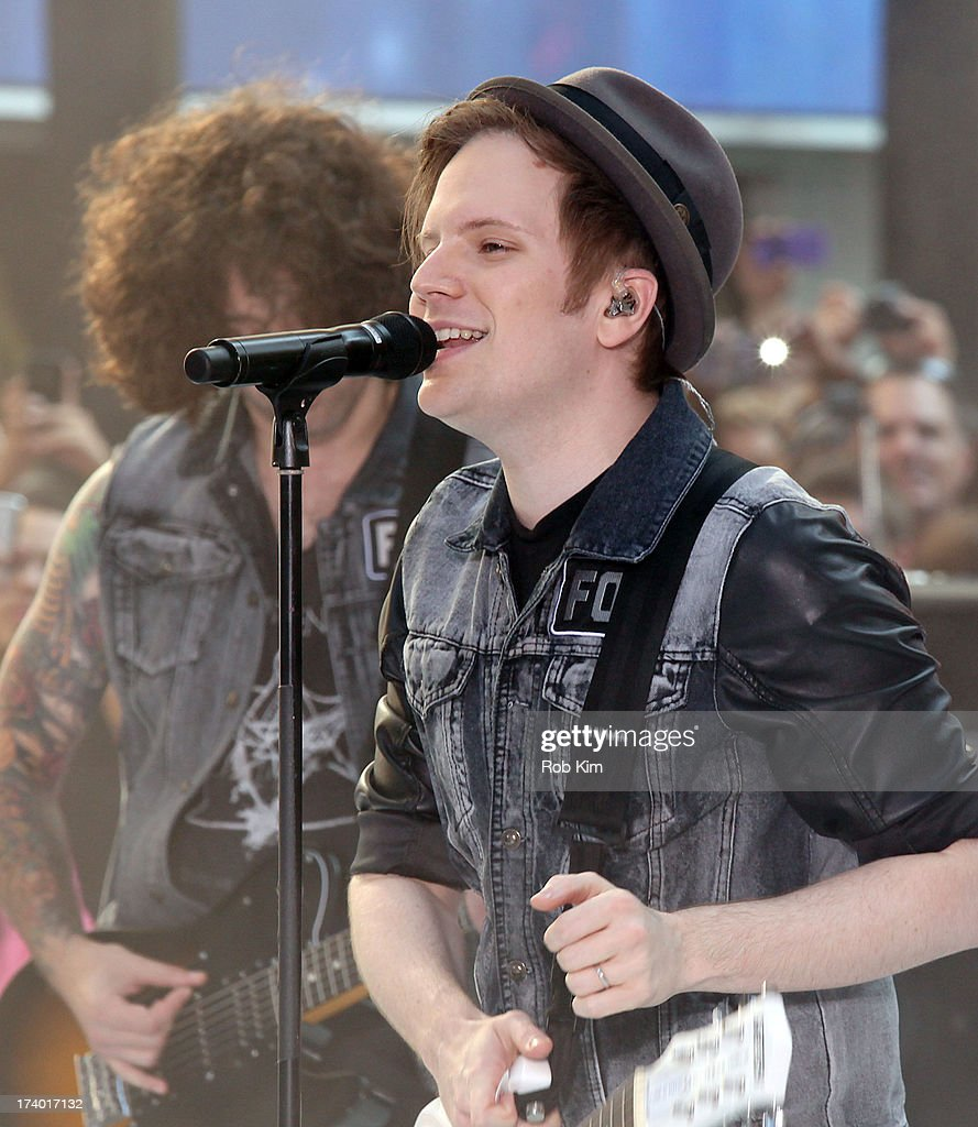 Lead singer <a gi-track='captionPersonalityLinkClicked' href=/galleries/search?phrase=Patrick+Stump&family=editorial&specificpeople=557078 ng-click='$event.stopPropagation()'>Patrick Stump</a> of Fall Out Boy performs on NBC's 'Today' at the NBC's TODAY Show on July 19, 2013 in New York, New York.