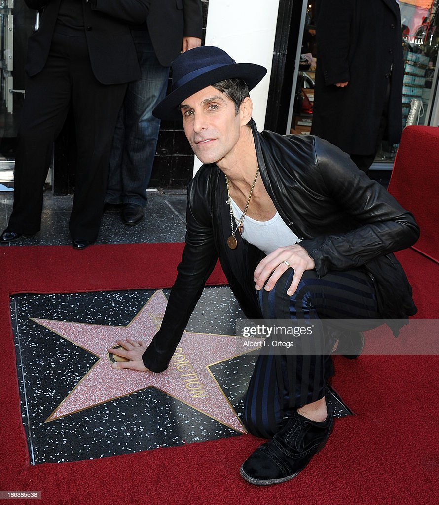 Lead singer Perry Farrell of Jane's Addiction Honored On The Hollywood Walk Of Fame on October 30, 2013 in Hollywood, California.