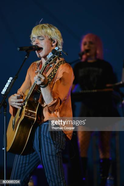 Lead Singer Ross Lynch and Rydel Lynch of the Pop Band R5 performs at Elitch Gardens on June 24 2017 in Denver Colorado