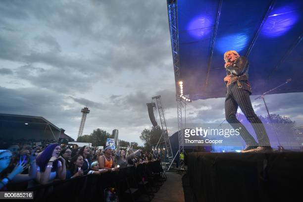 Lead Singer Ross Lynch of the Pop Band R5 performs at Elitch Gardens on June 24 2017 in Denver Colorado