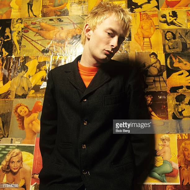 Lead singer Thom Yorke of the British alternative rock band Radiohead poses for October 1994 portrait in New York City New York