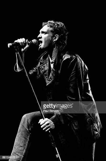 Lead singer with Alice in Chains Layne Staley performs live on stage at the Paradiso Amsterdam Holland on February 20 1993