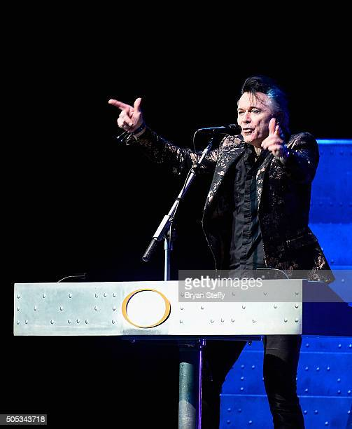 Lead singer/keyboardist Lawrence Gowan of Styx performs at The Pearl concert theater at Palms Casino Resort on January 16 2016 in Las Vegas Nevada