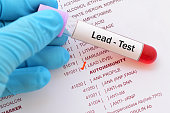 Blood sample with requisition form for lead (Pb) test