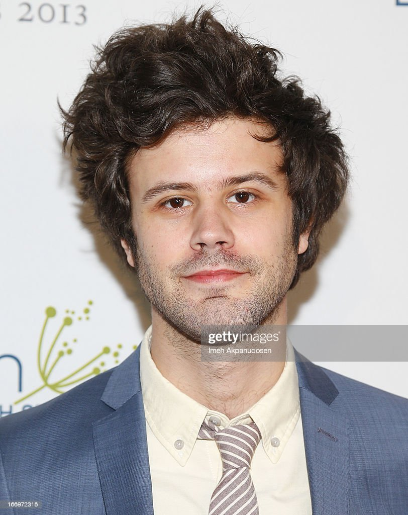 Lead vocalist <a gi-track='captionPersonalityLinkClicked' href=/galleries/search?phrase=Michael+Angelakos&family=editorial&specificpeople=5735300 ng-click='$event.stopPropagation()'>Michael Angelakos</a> of Passion Pit attends the 'Music Matters' 17th Annual Erasing The Stigma Awards Luncheon Presented By Didi Hirsch Mental Health Services at The Beverly Hilton Hotel on April 18, 2013 in Beverly Hills, California.