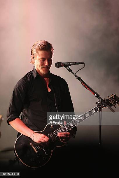 Lead Vocalist Paul Banks and Interpol perform a Benefit Concert for Celebrate Brooklyn at Prospect Park Bandshell on July 21 2015 in the Brooklyn...
