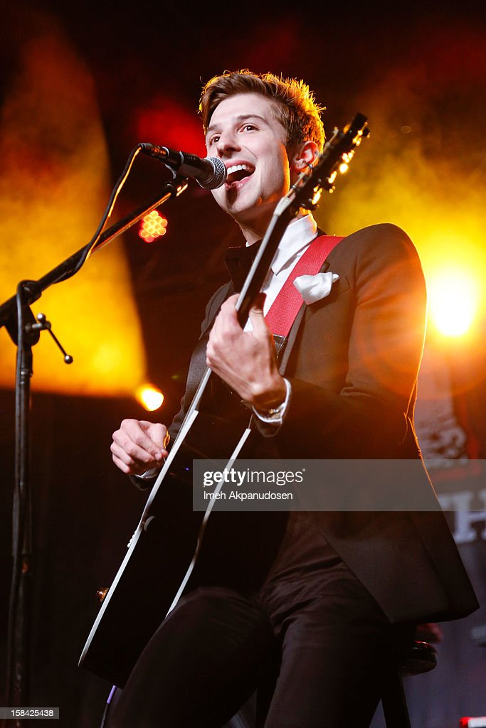 Lead vocalist <a gi-track='captionPersonalityLinkClicked' href=/galleries/search?phrase=Ryan+Follese&family=editorial&specificpeople=8412836 ng-click='$event.stopPropagation()'>Ryan Follese</a> of Hot Chelle Rae performs onstage at The 3rd Annual Salvation Army Rock The Red Kettle Concert at Nokia Theatre L.A. Live on December 15, 2012 in Los Angeles, California.