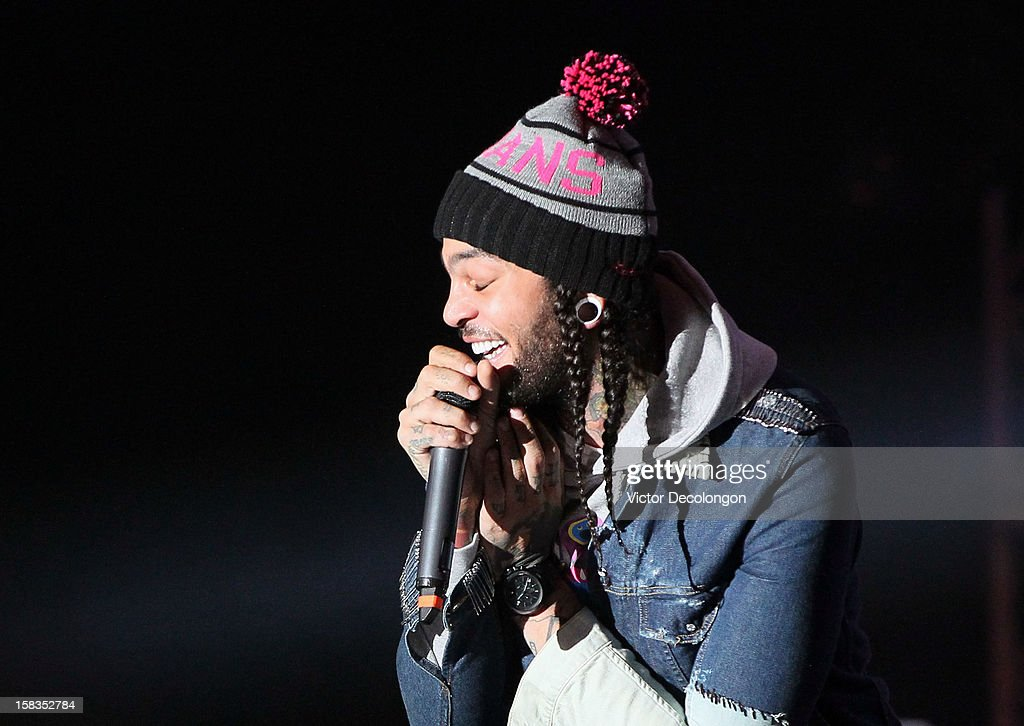 Lead vocalist Travie McCoy of Gym Class Heroes performs at the Got Your 6 And Pat Tillman Foundation Benefit on December 13, 2012 in Norwalk, California.
