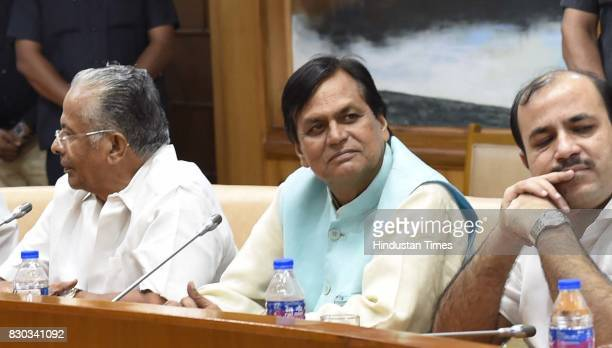 Leader Ali Anwar during Opposition party leaders meeting at Parliament House Annexe on August 11 2017 in New Delhi India Leaders of 16 opposition...