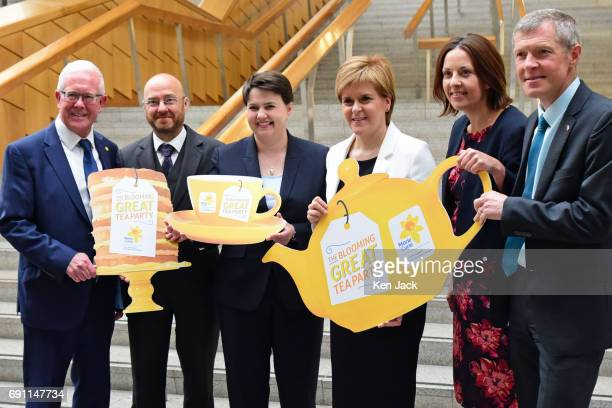 SNP leader and First Minister Nicola Sturgeon and other party leaders come together in support of the Marie Curie charity after First Minister's...