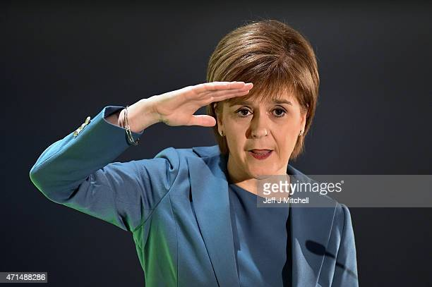 SNP leader and First Minister Nicola Sturgeon delivers a speech marking the start of the final week of campaigning in the runup to the general...