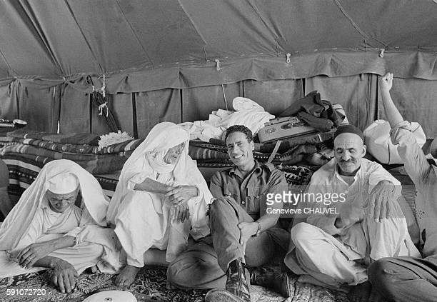 Leader and Guide of the Revolution of Libya Muammar alGaddafi in his father's tent in the Syrtes Desert