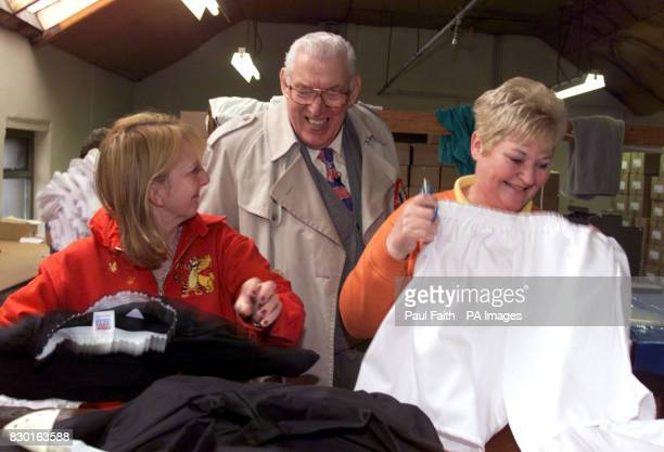 DUP leader and North Antrim Euro MP Ian Paisley starts his Euro Election campaign with a visit to staff of a small clothing factory in Bushmills Co...
