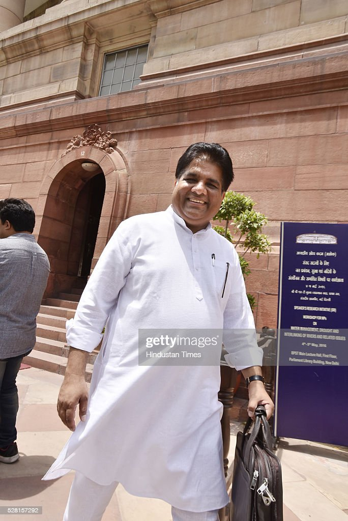 BJP leader Bhupender Yadav at Parliament House during parliament session on May 4, 2016 in New Delhi, India. Congress walks out of the House demanding time-bound Supreme Court-monitored CBI probe on the AgustaWestland helicopter deal.