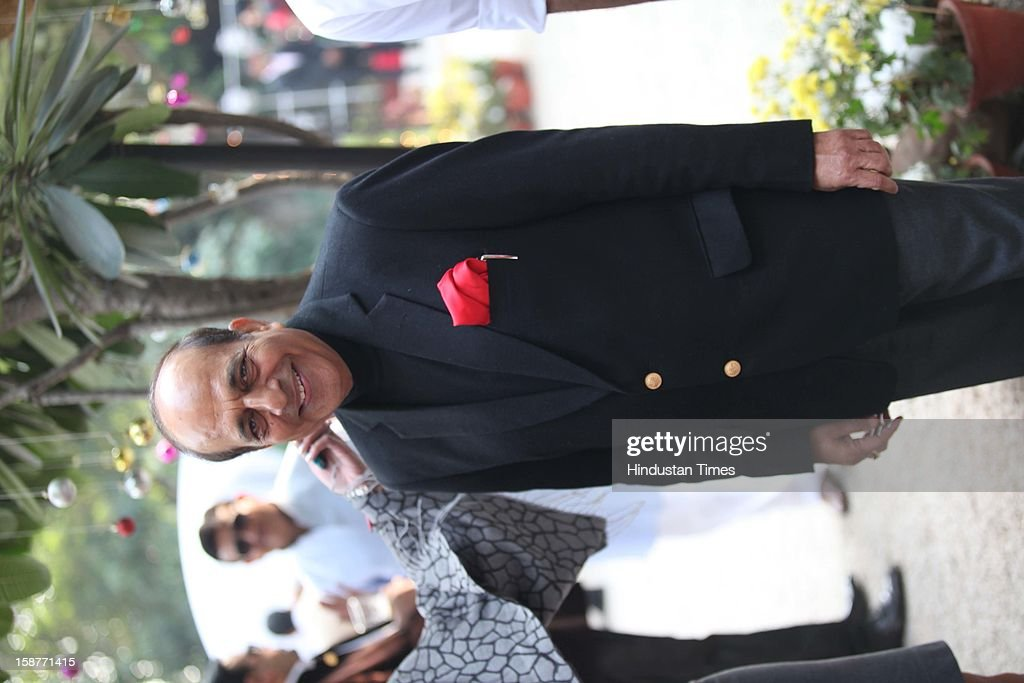 TMC leader Dinesh Trivedi during Christmas party thrown by communication guru Dilip and Devi Cherian at Lodi Garden on December 22, 2012 in New Delhi, India.