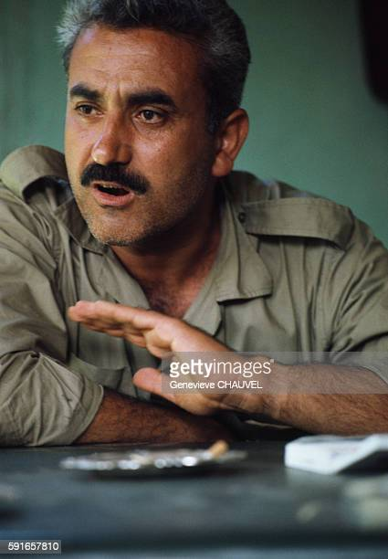 P leader George Habache attends a meeting in Amman