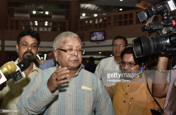 RJD leader Lalu Prasad and others during all opposition party meeting to decide a joint candidate for the upcoming president election at Parliament...