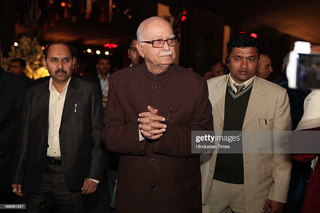 BJP leader LK Advani during the wedding reception of Ahana Deol and Vaibhav Vohra on February 5, 2014 in New Delhi, India. Ahana, a budding Odissi dancer, is the daughter of Bollywood stars Dharmendra and Hema Malini while Vaibhav in an Indian businessman. They married on February 2, 2014 in Mumbai.