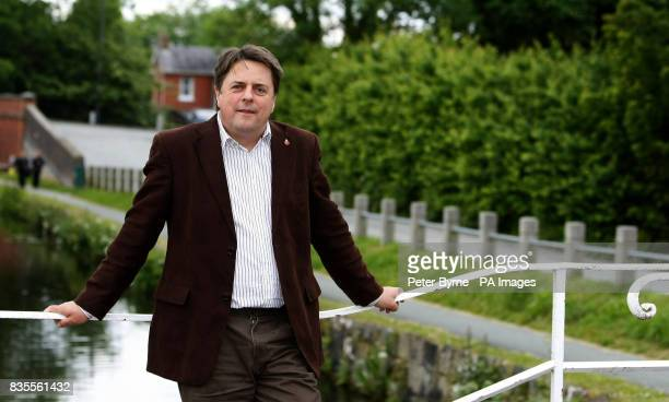BNP leader Nick Griffin in Welshpool the day after his party's success in the European elections