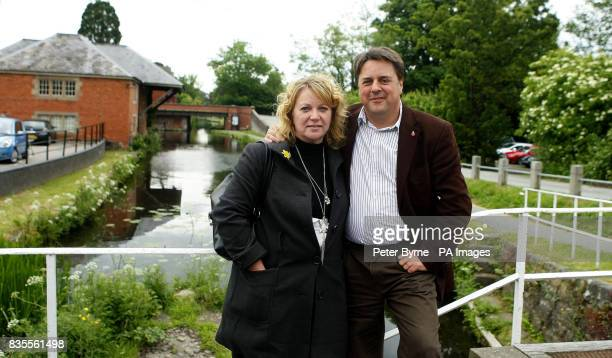 BNP leader Nick Griffin with his wife Jackie in Welshpool the day after his party's success in the European elections