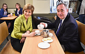SNP Leader Nicola Sturgeon and Alex Salmond campaign in the Gordon constituency on April 18 2015 in Inverurie Scotland The First Minister joined Alex...