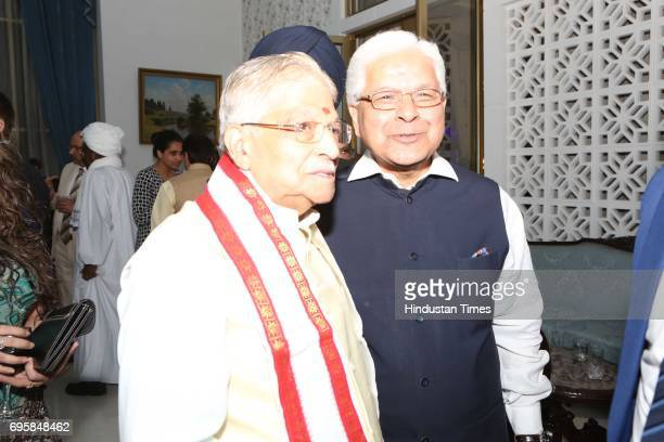 BJP leader Nurli Manohar Joshi and Ashwani Kumar during the celebration of the National Day of Russia hosted by the Embassy of the Russian Federation...