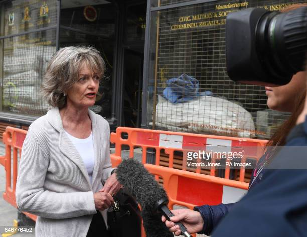 Leader of Kensington amp Chelsea Council Elizabeth Campbell arriving for the Grenfell Tower public inquiry in central London where Sir Martin...