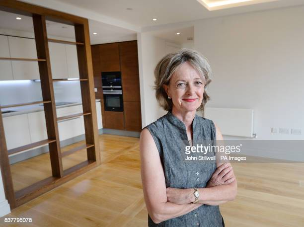 Leader of Kensington amp Chelsea Council Elizabeth Campbell in the living room and kitchen of a two bedroom flat in Chelsea west London which will be...