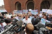 Leader of the Conservative Party David Cameron speaks to the press and party members at Hammersmith Town Hall on June 3 2009 in London England Mr...