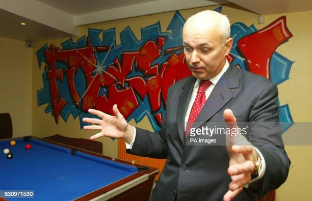 Leader of the Conservative Party Iain Duncan Smith during a visit to a YMCA Fusion Project in Bournemouth Mr Duncan Smith today insisted that he was...