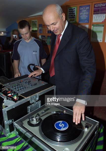 Leader of the Conservative Party Iain Duncan Smith has a play on a mixer during a visit to a YMCA Fusion Project in Bournemouth * Mr Duncan Smith...