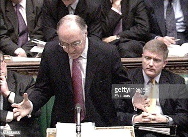 Leader of the Conservative Party Michael Howard speaking in the House of Commons after Lord Hutton announced the results of his inquiry into the...