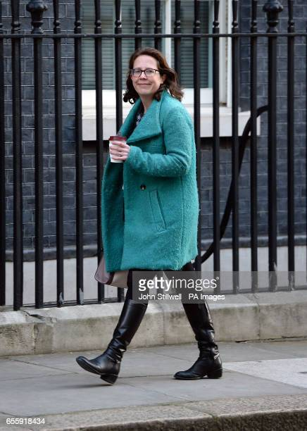 Leader of the House of Lords Baroness Evans arriving at 10 Downing Street London ahead of the weekly cabinet meeting