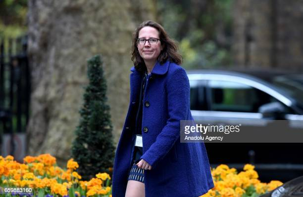 Leader of the House of Lords Baroness Evans of Bowes Park arrives at No10 Downing Street for British Prime Minister Theresa May's weekly cabinet...