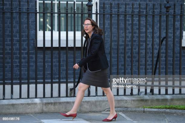 Leader of the House of Lords Baroness Evans of Bowes Park arrives at Downing Street in London United Kingdom on June 13 2017 The Prime Minister has...