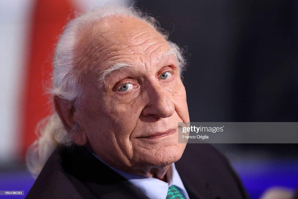 Leader of the Italian Radical party <a gi-track='captionPersonalityLinkClicked' href=/galleries/search?phrase=Marco+Pannella&family=editorial&specificpeople=665526 ng-click='$event.stopPropagation()'>Marco Pannella</a> attends 'Porta A Porta' TV show on January 31, 2013 in Rome, Italy. National Elections in Italy are scheduled for February 24.