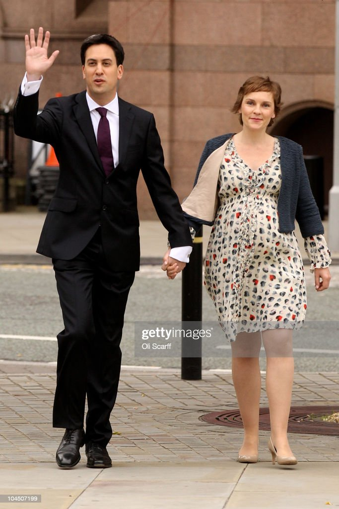 Leader of the Labour Party, <a gi-track='captionPersonalityLinkClicked' href=/galleries/search?phrase=Ed+Miliband&family=editorial&specificpeople=4376337 ng-click='$event.stopPropagation()'>Ed Miliband</a> and his partner Justine Thornton arrive for his his keynote speech to party members at the annual Labour conference on September 28, 2010 in Manchester, England. New Labour party leader <a gi-track='captionPersonalityLinkClicked' href=/galleries/search?phrase=Ed+Miliband&family=editorial&specificpeople=4376337 ng-click='$event.stopPropagation()'>Ed Miliband</a> will today give his keynote speech to delegates where he is expected to offer a 'different ways' of doing politics