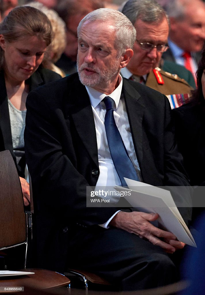Leader of the Labour Party <a gi-track='captionPersonalityLinkClicked' href=/galleries/search?phrase=Jeremy+Corbyn&family=editorial&specificpeople=2596361 ng-click='$event.stopPropagation()'>Jeremy Corbyn</a> attends a Service on the Eve of the Centenary of the Battle of the Somme at Westminster Abbey on June 30, 2016 in London, United Kingdom.