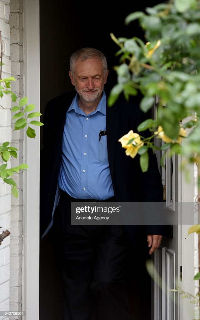 Leader of the Labour Party, Jeremy Corbyn leaves his house the day after it is understood Angela Eagle will challenge Jeremy for the Labour Leadership, in London, United Kingdom on June 30, 2016. It is understood the former shadow business secretary has the support of 51 MPs needed to mount a challenge.