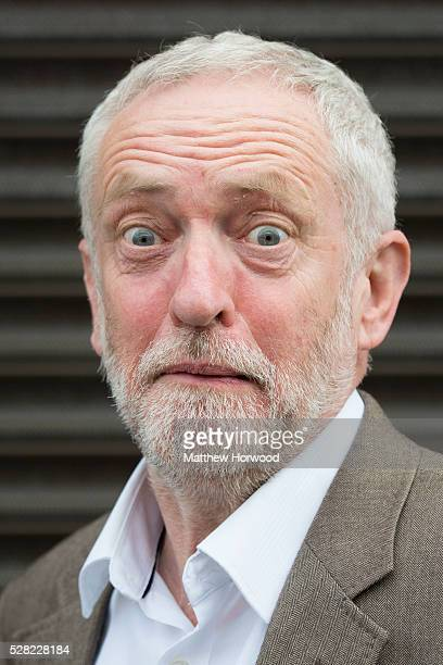 Leader of the Labour Party Jeremy Corbyn poses for a picture during a visit to Maesteg on May 4 2016 in Bridgend Wales Tomorrow the UK will go to the...
