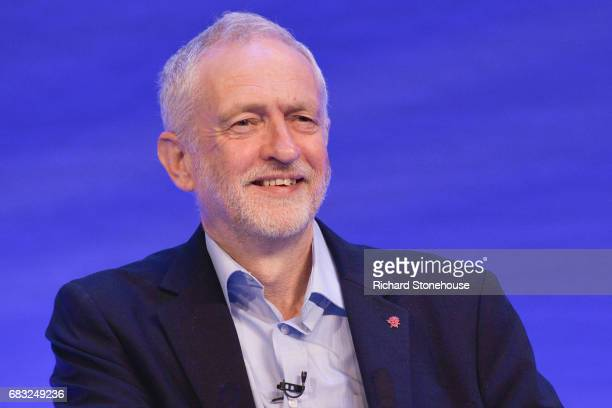 Leader of the Labour Party Jeremy Corbyn speaking at the Royal College of Nursing Congress on May 15 2017 in Liverpool England Britain will vote in a...